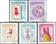 Albania 1018-1022 fine used / cancelled 1965 Balkanmeisterschaft in Basketball