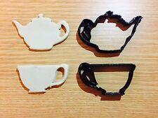 Teiera Set Alice nel paese delle meraviglie in plastica Biscotto Cookie Cutter Fondente Torta Decor