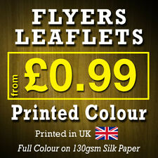 More details for a6 a5 a4 flyers leaflets printed full colour flyer leaflet printing 130gsm silk