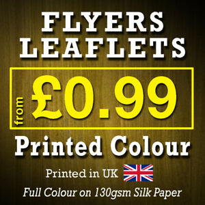 A6 A5 A4 Flyers Leaflets Printed Full Colour Flyer Leaflet Printing 130gsm silk