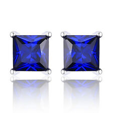 JewelryPalace Unique Saphire Earrings Stud Solid 925 Sterling Silver Elegant