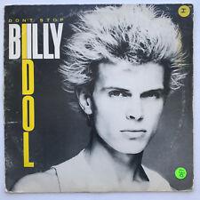 "Billy Idol Don't Stop Vinyl Record Original 1981 Rare 12"" Hard Rock"