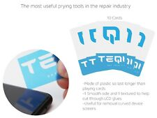 10 x LCD PRY/TOOL/LCD CARD IPHONE X TAB CURVED SEPARATOR FLEXIBLE THIN REPAIR