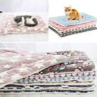 Soft Fleece Pad Pet Blanket Bed Mat For Puppy Dog Cat Sofa Cushion Sleeping Beds