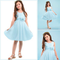 Kids Baby Flower Girl Dress Tulle Wedding Party Bridesmaid Toddler Pageant Dress