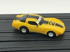 Ho Slot Car Tyco 1979 Chevy Corvette C3 Yellow #2 Magnum 440 Chassis Runs #1