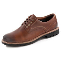 Clarks Batcombe Hall Brown Shoes Mens Dark Tan Leather Derbys Footwear Size 6