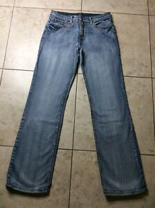 COWGIRL UP Don't Fence Me In Blue JEANS ~ Womens 10 Long ~ 31 x 34