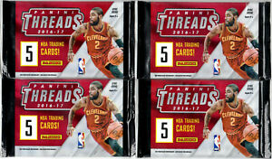 2016-17 Panini Threads Basketball Cards Packs - Lot of 4