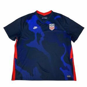 Nike Team USA Soccer Jersey Shirt Women Size 3XL Match Breathe Camouflage DriFit