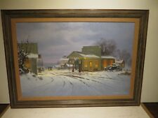 """24x36 org. 1986 oil painting by George Kovach of """"The Old Pump House Station"""""""