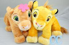 New The Lion King Baby Simba and Sweetheart Nala Plush Toy Valentine's 2Pcs
