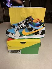 Mens Nike SB Dunk Low Pro QS Ben & Jerry's SZ 11 CU3244-100 Chunky Dunky In Hand