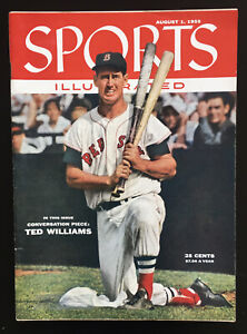 1955 Sports Illustrated BOSTON Red Sox TED WILLIAMS Splendid Splinter 1st COVER