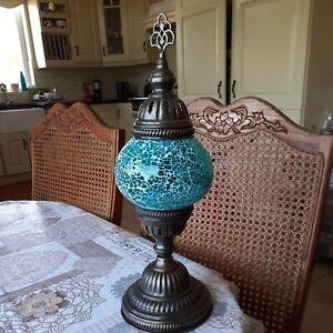 Turkish moroccan mosaic lamp Battery Powered (b)