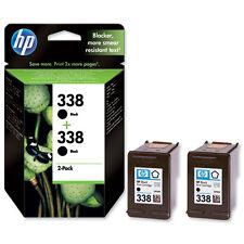 2 X Genuino Original HP 338 Negro Cartuchos de Tinta 2 Año Gtee C8765EE Envío rápido