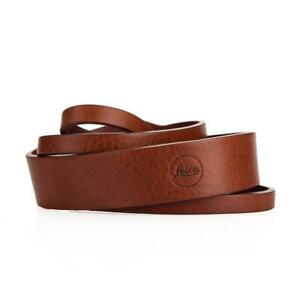 Genuine Leica Q-P Shoulder Carrying Strap, Brown Leather