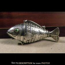 830S Silver Norwegian Articulated FISH Snuff Saccharin Box David Andersen