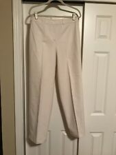 TALBOTS PANTS OFF-WHITE SIZE 10 COTTON AND SPANDEX