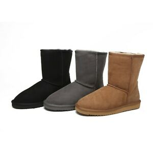 UGG Classic Water-Resistant 3/4 Unisex short Boots Premium Australian Sheepskin