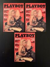 1996 Playboy Centerfold August Card Pamela Anderson #118 Lot Of 3