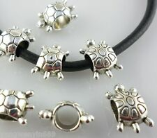 18pcs Tibetan Silver Hole:5mm big hole Sea turtle Spacer Beads