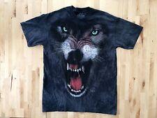 The Mountain Wolf Black Men's T-Shirt Size Large Animal Tee