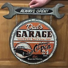 DADS GARAGE Ford Chevy Coupe Hot Rod Model Mobil Texaco Gas Oil Wall Decor 1