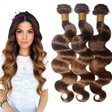 8A 300g/3bundles Unprocessed Brazillian Ombre 4/30 Bodywave Human Hair