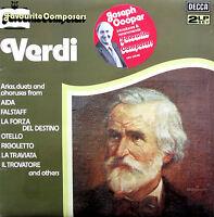 Favourite Composers VERDI Pavarotti Sutherland - 2xLP Decca DPA 555/6