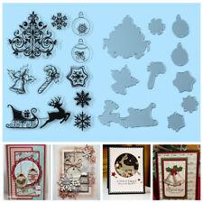 Christmas Metal Cut Die+Clear Silicone Stamp DIY Craft Scrapbooking Card Making