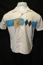 NWT Youth WOODY'S RETRO LOUNGE Hipster Panel Button Front Classic Shirt M