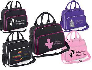 Personalised CUTE Baby Changing Bag Name Storage Carry Clothing Newborn Mum Pram