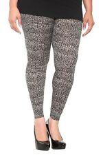 Grey Small Cheetah Print Leggings Plus Size 1 1X Torrid