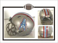 "Custom 1966 Houston Oilers Silver Shell 2"" Pocket Pro Football Helmet"
