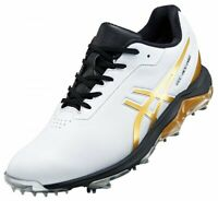 NEW ASICS Golf Shoes GEL-ACE PRO 4 Soft Spike 1113A013 White Gold Fast Shipping