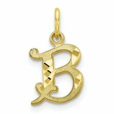 10K Yellow Gold Initial B Charm Letter Jewelry New 20 X 11mm