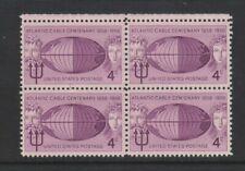 USA - 1958,4c Violet, Atlantic Câble Bloc De 4 - M/M - Sg 1111