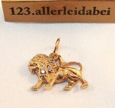 Löwen Anhänger 585 er Gold Löwe Kettenanhänger / AS 950