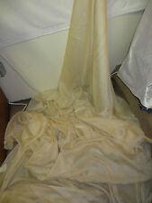 "1M CATIONIC  Beige gold  SOFT  DRESS CHIFFON FABRIC 58"" WIDE"