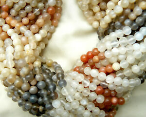 """multi-color moonstone beads 5mm Round 14"""" strand Good flash Free shipping"""
