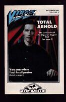 Vidpix Magazine Arnold Schwarzenegger November 1990 Total Recall