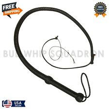 Real Cowhide Leather Bullwhips 03 Feet Long 12 Plait Black Leather Bullwhips