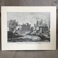 1890 Print Gondar Ethiopia Landscape View Ethiopian Palace Ruins