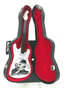 Miniature Fender Stratocaster Guitar - Depeche Mode - (Includes Hard Case)