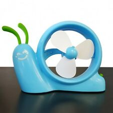 Snail Fan for your Desktop Computer - USB & Battery Operated