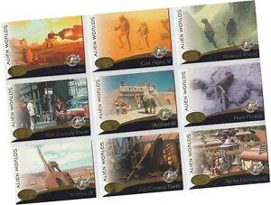 "Star Trek Cinema 2000: 9 Card ""Alien Worlds"" Chase Set AW1-AW9 - Skybox 2000"