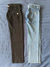 Freddy 7/8 Light Blue Jeans Black Trousers LOT Large