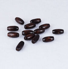 Coffee Wooden Oval Charm Spacer Beads Jewelry MakingDiy Necklace Findings 15X7mm