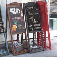 Large Easel Chalkboard Foldable Rustic Wood Blackboard retail store Pub signs
